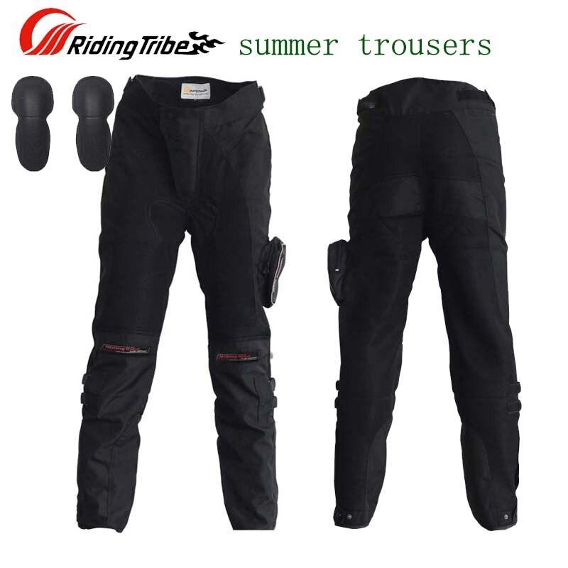 SUMMER Mesh Fabric Riding Tribe HP-02 motorcycle pants men with knee, Moto motocross trousers M L XL XXL XXXL