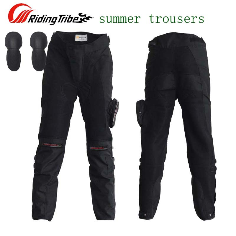 SUMMER Mesh Fabric Riding Tribe HP-02 motorcycle pants men with knee,  Moto motocross trousers  M L XL XXL XXXL top good motorcycles mesh fabric jacket summer wear breathable hard protective overalls motorcycle clothing wy f607 green