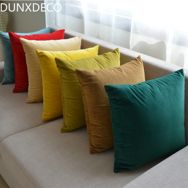 DUNXDECO Fodere per Cuscini Decorativo Coperture per Cuscini Super Soft Artistic