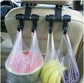 2 Unids/set gancho utilidad vehículo reposacabezas del asiento de coche cómodo doble bolsa de gancho de coche gancho de percha