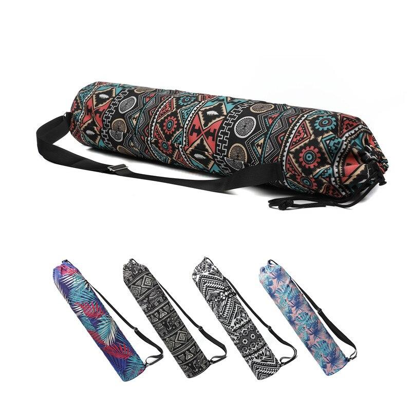 Yoga Bag Canvas 75*16cm Printing Drawstring Design Backpack For 6mm Yoga Mat Bag Pilates Fitness Gym Dance Training Pad Case|Yoga Mats| - AliExpress