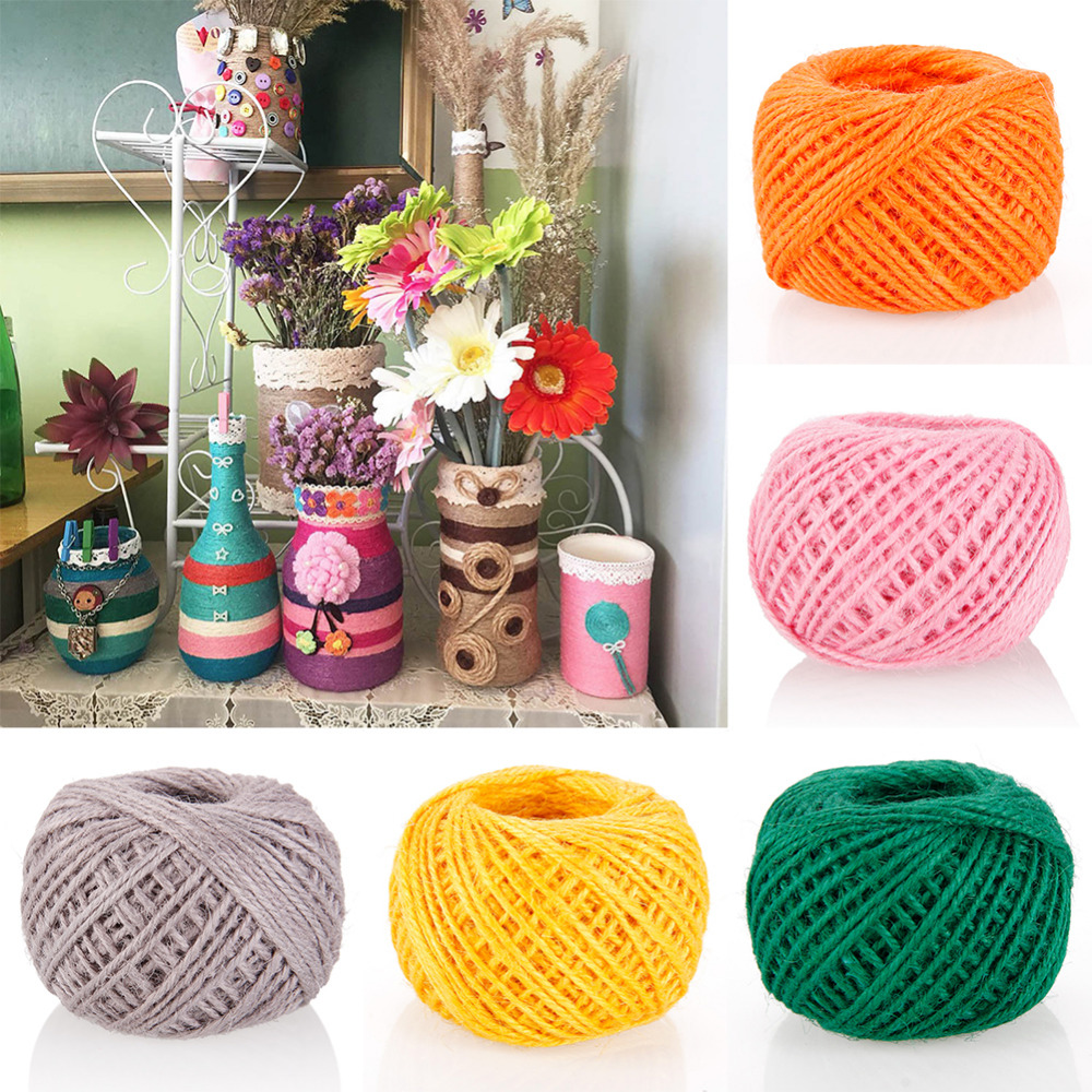 Cooperative New 50m Diy Color String Hemp Rope Photo Wall Making Twine Thread String Cord Shank #248843 Hot Sale 50-70% OFF Arts,crafts & Sewing Cords