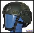 NIJ IIIA ACH Bullet Proof Casco Verde Con Sealed Heat Cojines/NIJ 3A ACH Mich2000 Bulletproof Casco Con la Prueba informe