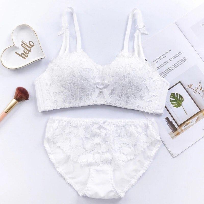 Women Ladies Striped Wire Free Bra Women's Intimates Back To Search Resultsunderwear & Sleepwears Panties Briefs Underwear Lingerie Set S72