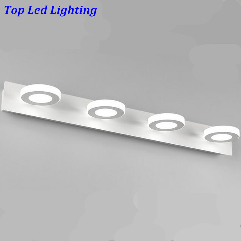 Modern Acryl Aluminum 4 Heads Led 12W Mirror Lamps for Bathroom Aisle 65cm Waterproof IP65 Anti-fog Indoor Wall Lamps 1184 new modern simple durable bright flexible aluminum acryl led mirror light for bathroom waterproof anti fog wall lamp 1136