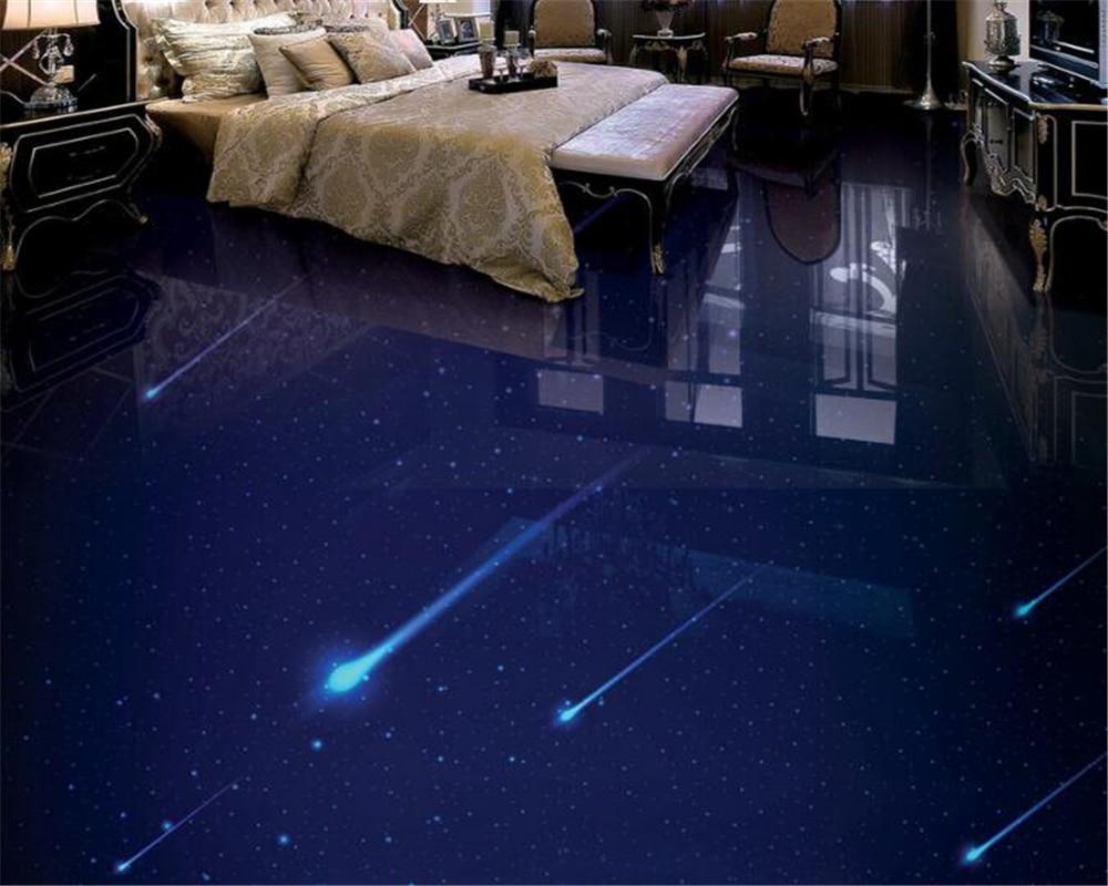 Beibehang стильные высокие стены обои Звездное метеорный поток 3D стерео для ванной гостиная эстетику 3D полы Papel де Parede