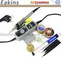 YIHUA 908+ Upgrade 908D LED Digital Soldering Station Mini Portable Adjustable Electric soldering iron Welding tools kit set