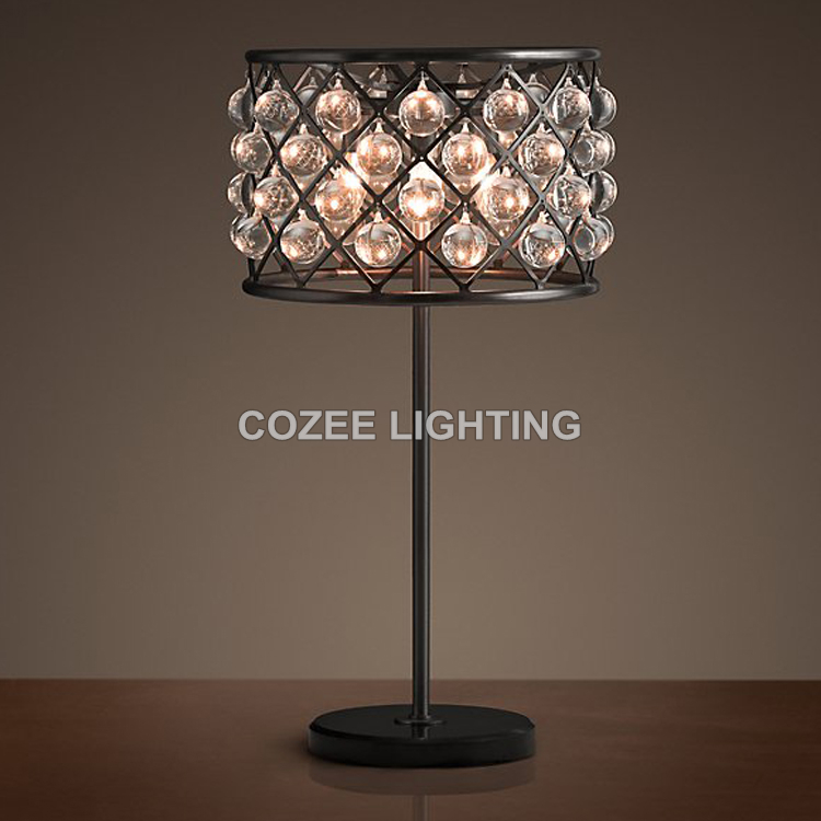 Commercial Table Lamps: Cheap Vintage Crystal Table Lamp Desk Light Cristal Table