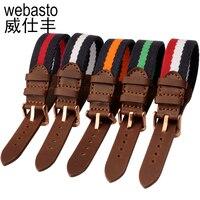 Webasto Montre Bande Pour Daniel Wellington Nylon Sangles Largeur 18mm Boucle Bracelet Bracelets Pour DW Livraison Gratuite