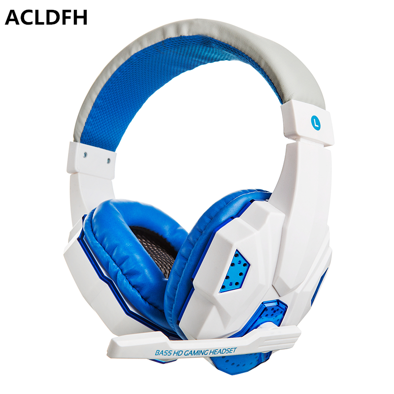 ACLDFH Headset Gamer Kulaklik Auriculares LED 2.2 M Wired Gaming Headset con Rumore Che Annulla la Cuffia per Pc Computer Gamer