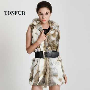 real rex rabbit fur vest with hooded women\'s slim rex rabbit fur coat winter fur jacket Free shipping THP272