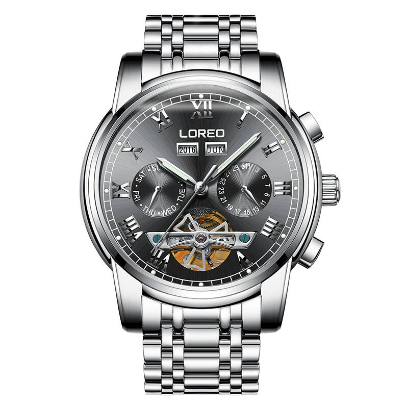Здесь продается  LOREO 6108 Germany watches men skeleton Tourbillon automatic mechanical Fashion Men