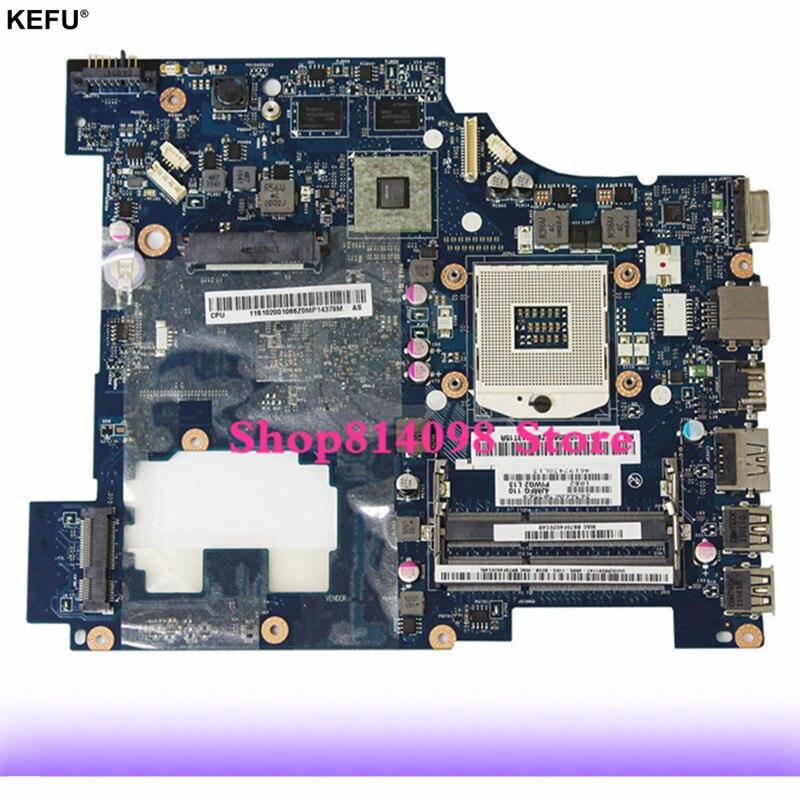 KEFU LA-6753P laptop motherboard for Lenovo G570 Laptop motherboard LA-6753P motherboard HM65 with HDMI interface 100% tested f3t laptop motherboard 5