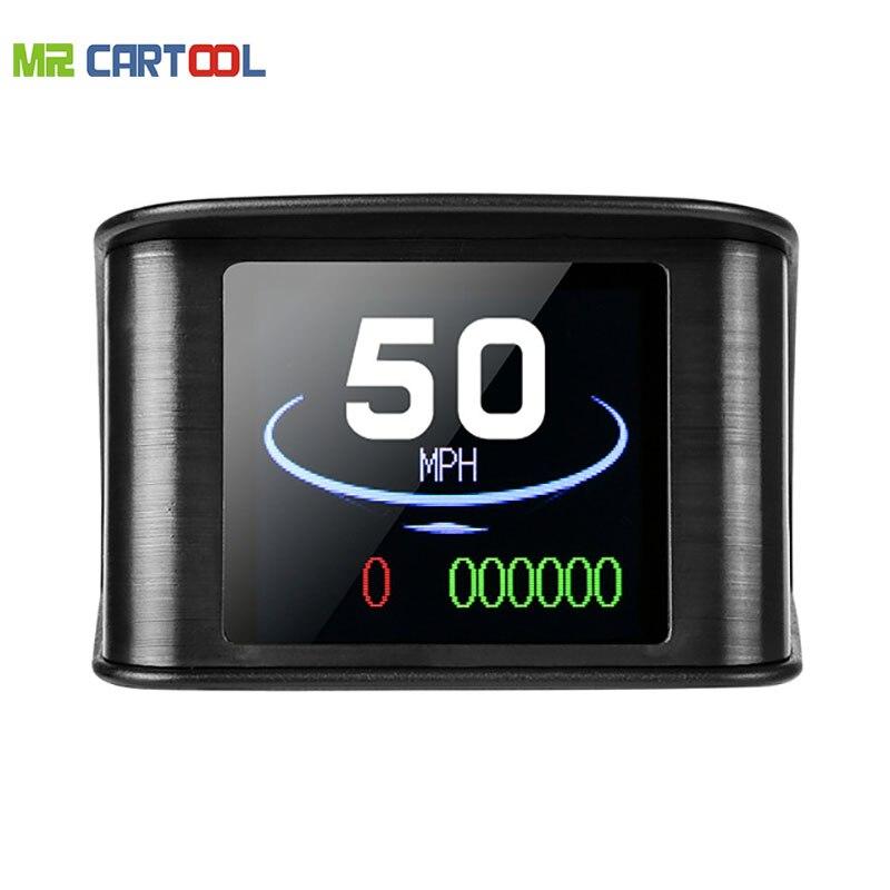Mr Cartool M1 OBD2 автомобилей Калибр HUD Head-Up Дисплей автомобильный проектор скорости Температура obd OBDII расход топлива инструмент диагностики