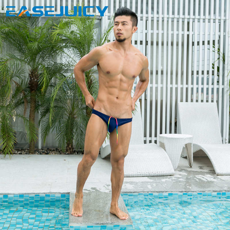 eaa375e3ed low waist swimwear bathing suit bikini briefs Summer sexy men swimming  trunks wear