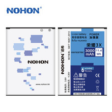 Top Quality NOHON Battery For Huawei 3X/HB476387RBC B199 3X Pro G750 High Capacity 3000mAh
