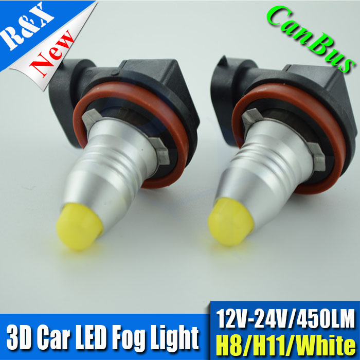 Canbus free error High Quality 3D 5W LED Fog Lamp bulb 450lm 6000k 360 degress H11 H8 H7 9005 9006 For Car Syling fog light 2pcs brand new high quality superb error free 5050 smd 360 degrees led backup reverse light bulbs t15 for jeep grand cherokee