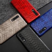 Luxury Retro Crocodile Snake Pattern PU Leather Case For Huawei Nova 4E 3E Mate 20 RS Pro Back Cover P20 P30 Lite
