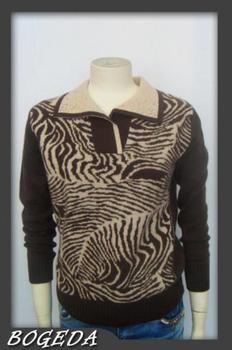 100 Cashmere Sweater Women Zebra Black Brown Pullover Sweaters Natural Fabric Warm High Quality Clearance Sale Free Shipping