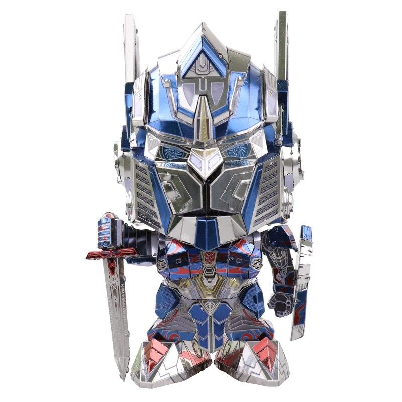 MU 3D Métal Puzzle Optimus Prime Tête remplaçable Modèle DIY 3D Laser Cut Assembler Puzzle Jouets De Bureau décoration CADEAU Pour vérification