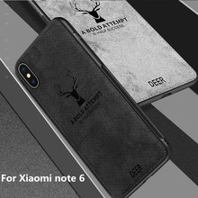 Fabric Back Cover Capa For Xiaomi redmi note 6  redmi 7 PRO Case Classic Fabric Cloth Soft Silicone Frame Back Cover for note6 папка petek