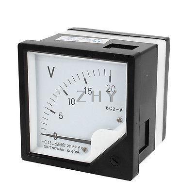 DC 5V 10V 15V 20V 30V 50V 100V 150V 250V 300V Measuring Range Panel Mounting Voltmeter Voltage Meter 6C2 80mm x 80mm