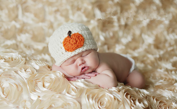 e967b09c870 Crochet Baby Halloween Baby Pumpkin Hat