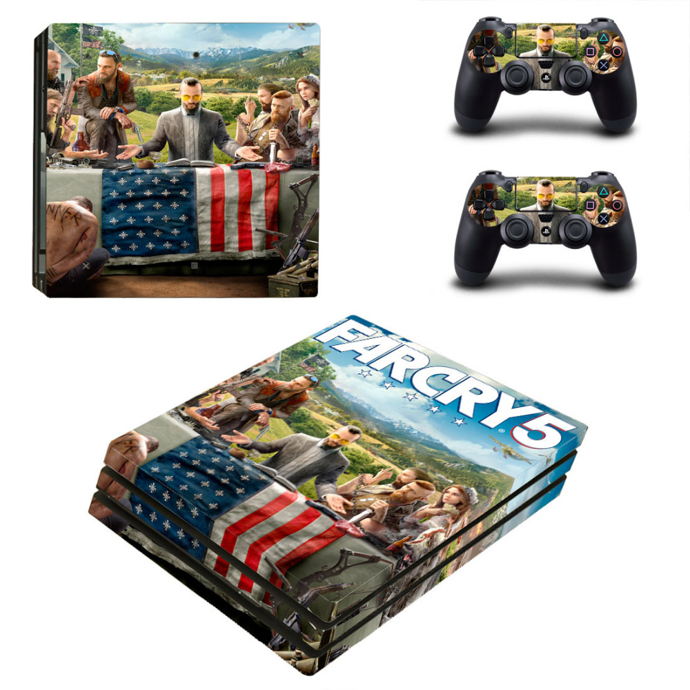 US $9 39 6% OFF|Far Cry 5 Decal PS4 Pro Skin Sticker For Sony PlayStation 4  Console and Controllers PS4 Pro Skin Stickers Vinyl-in Stickers from