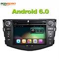 Quad Core 1024*600 HD de Pantalla Android 6.0 2Din Coche DVD para Toyota RAV4 Audio Video Stereo Radio Navegación GPS RDS 3G 4G Wifi