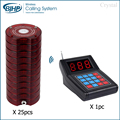 AC-CTP210 food court wireless paging system take a number queue pager system restaurant table vibtate beeper buzzer
