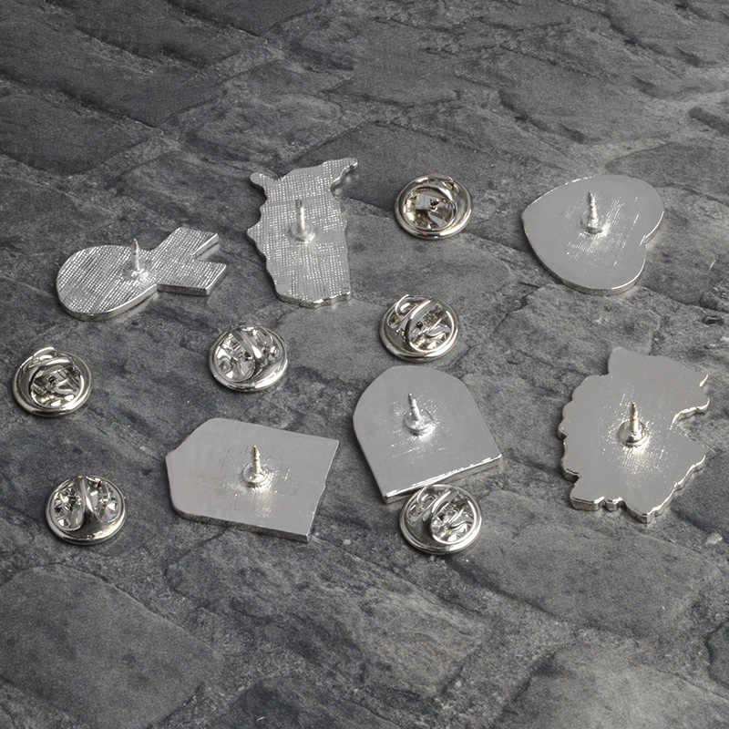 Carino perno di metallo di trasporto del Nuovo fumetto di Modo selvaggio bandiera spilla creativo geometria a forma di bandiera nazionale di tendenza distintivo gioielli Per Le Donne
