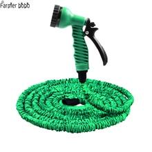 25FT-100FT удлиняемый садовый шланг волшебный гибкий шланг для воды пластиковые шланги трубы с распылителем для полива