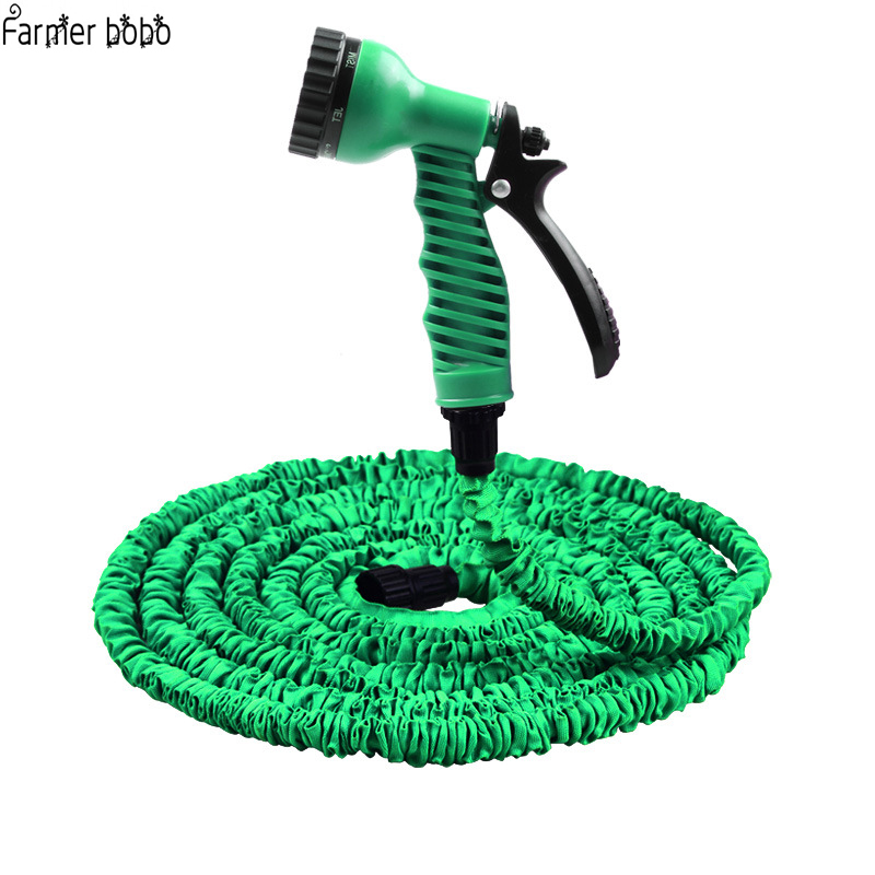 Hot Selling 25FT-100FT Garden Hose Expandable Magic Flexible Water Hose EU Hose Plastic Hoses Pipe With Spray Gun To Watering(China)