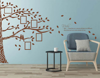 Family Branches with Photo Frames Wall Sticker Family Tree with Photo Frames Wall Decor for Living Room 810T