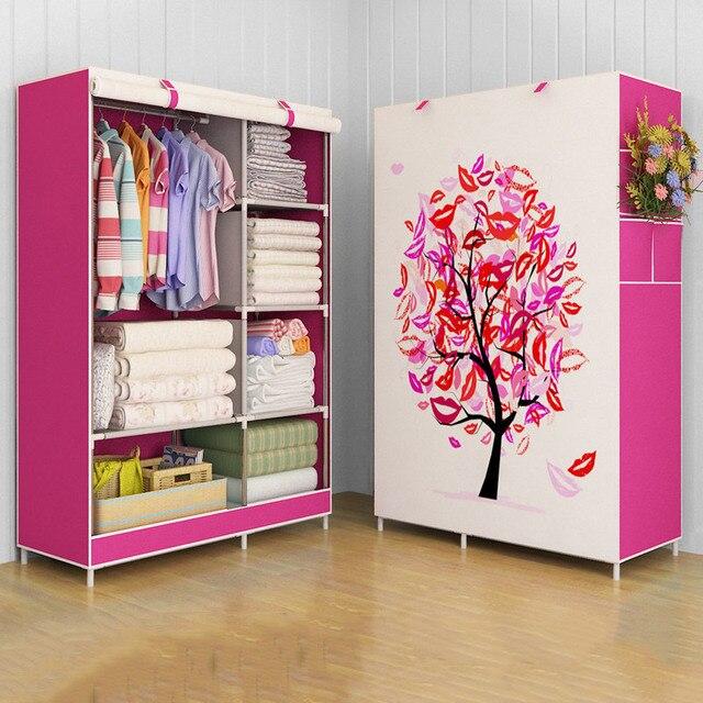 GIANTEX Tuch Schrank Für kleidung Stoff Folding Tragbaren Schrank Schrank Schlafzimmer Home Möbel