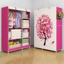 GIANTEX armario de tela para ropa plegable armario portátil armario de almacenamiento muebles de dormitorio para el hogar