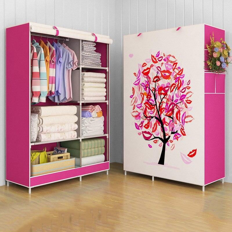 GIANTEX armoire en tissu pour vêtements tissu pliant Portable armoire de rangement chambre meubles de maison