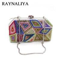 High Quality Luxury Party Minaudiere Handbags Women Bags Designer Rhinestone Crystal Clutch Evening Bag Bride Purse