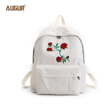 АВГУР модные женские туфли холст школьный рюкзак с принтом розы рюкзаки для подростков женские дорожные Mochilas Рюкзак PDN0284