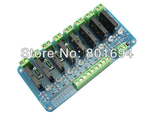 10 Pcs/Lot 8 Channel 5V Solid State Relay Module each channel 240V 2A цены
