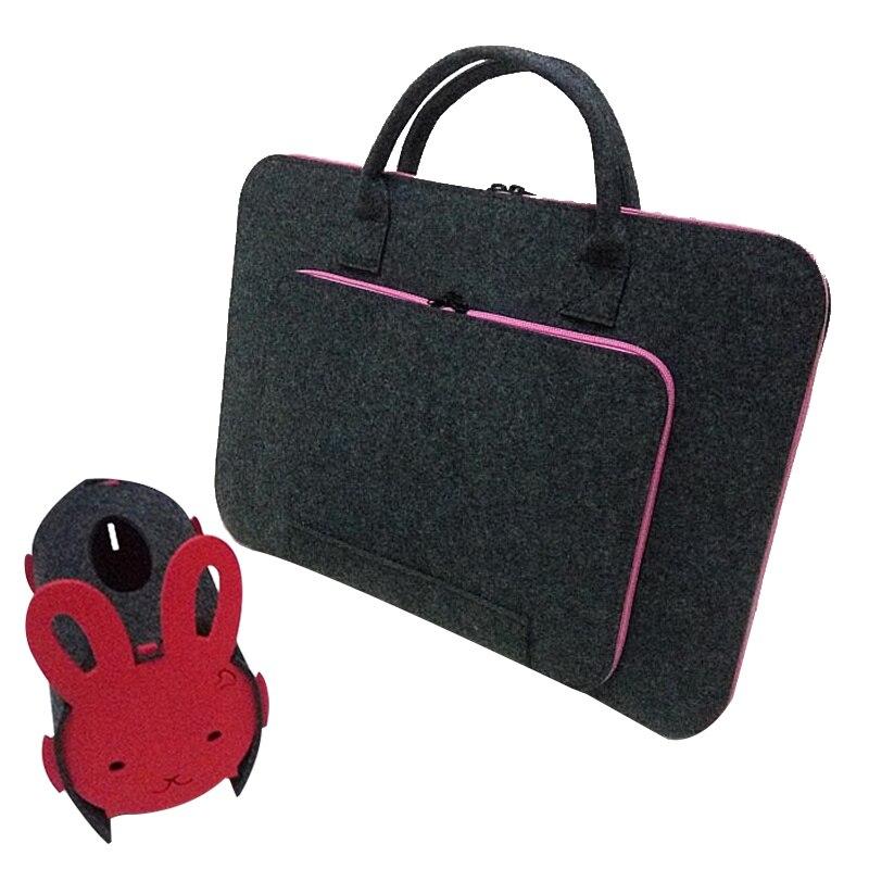 Felt Universal Laptop Bag Notebook Case Briefcase Handlebag Pouch For Macbook Air Pro Retina 15 or 17 Inch Men Women