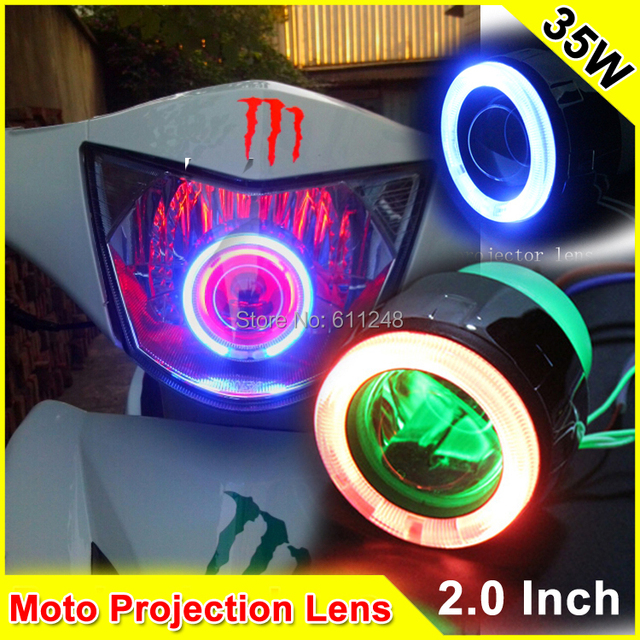 2.0 Inch 35W Motorcycle H7 H4 Xenon Mini Projector Lens Universal Projector Headlights Car Bi Xenon Projector Lens