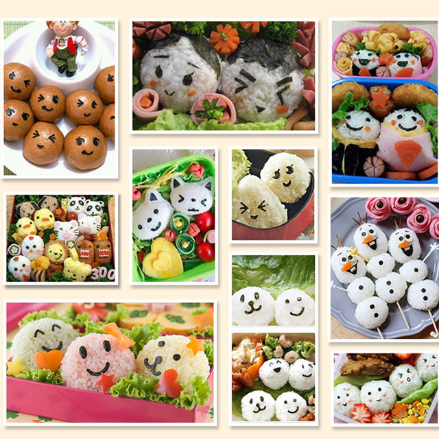 Laver Seaweed Sushi Bento Mold Embossed Children 's Rice Balls Cartoon Variety Of Expression Mold Baby Meal Kitchen Gadget (3)