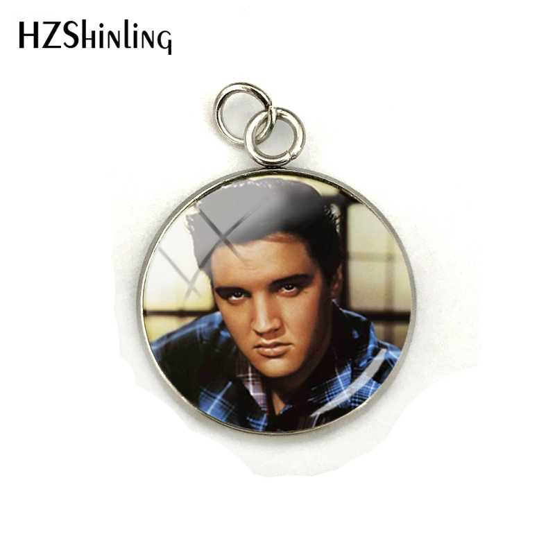 2019 New Elvis Presley Dome Cabochon Charms Famous Star Elvis Presley Crystal Round Picture Glass Cabochon Pendants Jewelry