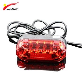 אופנוע חשמלי אופניים אחורי מנורה עמיד למים 36 V אופני Bicicleta אחורי אור 100 CM חוט אדום LED אזהרת אופני אביזרים