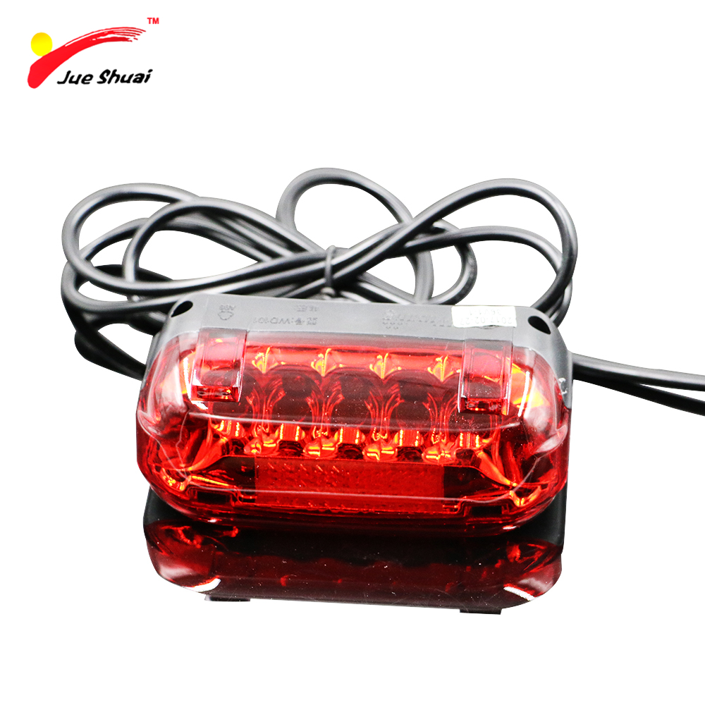 Motorcycle Electric Bicycle Rear Lamp Waterproof 36V Bike Bicicleta Rear Light 100CM Wire Red LED Warning Bike Accessories rear waterproof red