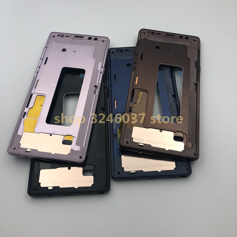Pour Samsung Galaxy Note 9 note9 N960 boîtier du cadre moyen boîtier du châssis avant avec des boutons latéraux