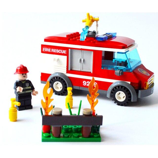 J633 New Arrival Fire-Fighting Series Enlightenment Assembling Plastic Toy Fire Truck 156pcs/set Building Blocks Kits