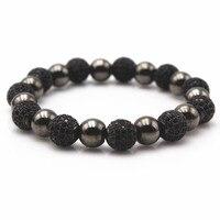 Thời trang 8 mét micro pave disco ball bracelet men đen kim loại bead vòng tay cho nam giới phụ nữ, 4 colors