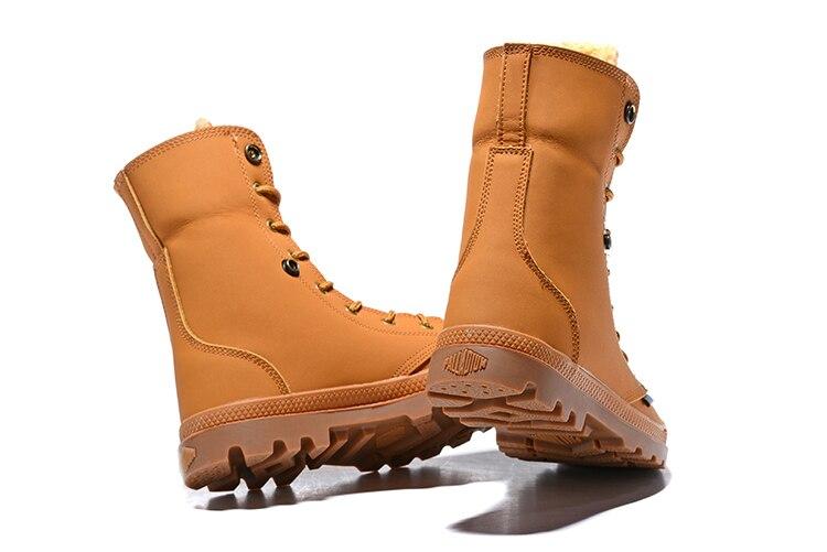 Leder kalb Frauen Plüsch Armee Casual Schuhe Winter Warm Hohe Weibliche Palladium Mid Mit Military Stiefel Pampa Taktische Innen Obere gHEq6Iwx